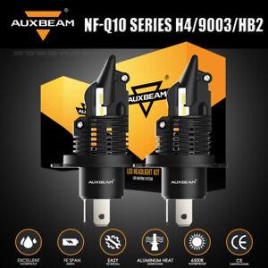 AUXBEAM Q10 H4 9003 HB2 LED Headlight Bulbs High Low Beam 6400LM 6500K Fanless