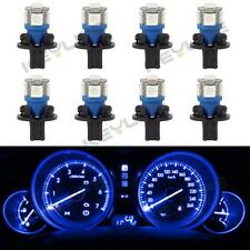8Pcs Blue T10 Instrument Panel Gauge LED Light Bulb +194 Twist Lock Socket