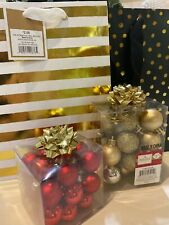 Red, Gold, and Black Christmas Ball Ornaments and Decor