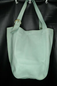 Coach 4082 Soho Leather Large Bucket Shoulder Tote Aqua Vintage