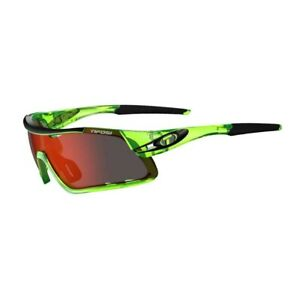 Tifosi Davos Crystal Neon Green Multi Lens Sunglasses - Clarion Red/AC Red/Clear