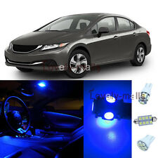 NEWEST Blue Auto Car Lights Interior LED Package Kit For Honda Civic 2013-2015