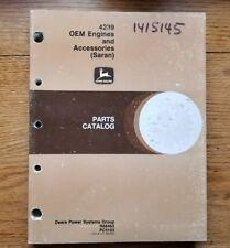 John Deere 4239 Oem Engines and Accessories (Saran) Parts Catalog R68463 Pc3153