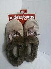DEARFORMS French Taupe House Slippers Indoor/Outdoor Women's L size 9-10 New