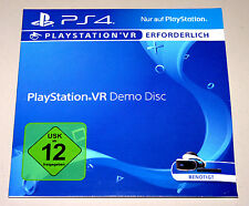 PLAYSTATION VR DEMO DISC (PlayStation 4) PS4 DEUTSCH
