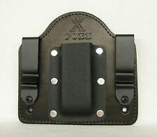 FoxX Holsters Leather & Kydex IWB Magazine Pouch HK USP .45 Black W/Comfort pad