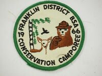 Boy Scouts America BSA Franklin District Conservation Camporee Cloth Patch 1966