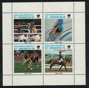 1988 St Vincent-Union Island UNISSUED Set of 4 Olympic Games M/Sheet U/M  (C17)
