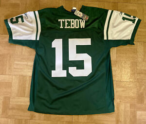 New York Jets Tim Tebow NFL Football Jersey #15 Adult Size 52 NWT XL With Tags