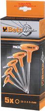 Serie chiavi esagonali brugola maschio Beta Tools 96T/S5P piegate impugnatura