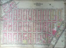 Original 1904 Williamsburgh, Brooklyn, New York Carnegie Library, Plat Atlas Map
