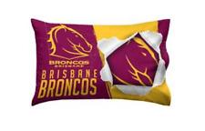 Brisbane Broncos NRL Team Logo Pillow Case Single Pillowslip