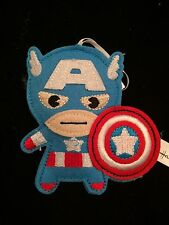 "NEW 2015 CAPTAIN AMERICA CAPTAIN AMERICA HALLMARK 4"" FELT CHRISTMAS ORNAMENT"