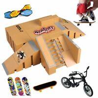 Skate Ramp Parts Set Finger Skateboard Toy Bike Training Sport Fingerboard Park