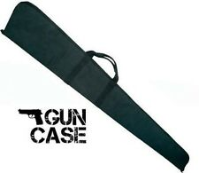 "Black Padded Gun Carry Case 55"" Long Rifle Shotgun Hunting Carrying w/ Handles"