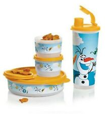 Tupperware Disney Frozen Friend Olaf's Snack set  Discontinued New