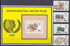 Jahr der Jugend - Tansania - 288-291, Bl.48 ** MNH 1985
