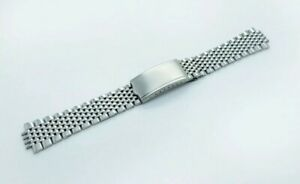 Beads of rice 18mm silver stainless bracelet fits to omega watches