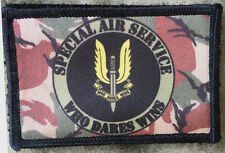 British Special Forces SAS Morale Patch Tactical Military Army Badge Hook Flag