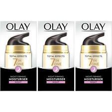 3 Olay Total Effects Night Cream Moisturiser 7-In-1 AntiAgeing FirmingCream 50ml