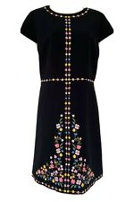 Ted Baker Jeorjia Hampton Court Multicolour Embroidered Flower Dress Size 4 14