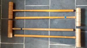 set of 4 CROQUET MALLETS  freepost uk