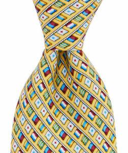 NWT VINEYARD VINES EDSFTG Flag Print Handmade Silk Tie USA YELLOW XLONG 45% OFF