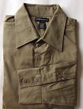 Club Monaco Of Ralph Lauren Group Men Dress Shirt Small Military Green Cotton LS