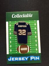 Buffalo Bills OJ Simpson jersey lapel pin-Classic Retro Collectable-The JUICE