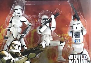 CLONE TROOPER Build Your Army 3 Pack — Star Wars Revenge of the Sith 3.75 Inch