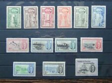 Turks & Caicos 1950 set to 10s MM toned gum