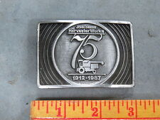 Vintage John Deere Harvester Works 75th 1987 BELT BUCKLE Combine