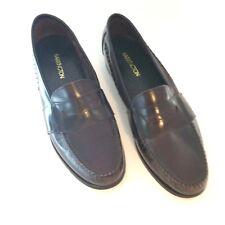 Barrington Leather Loafers 13 D Mens Burgundy Slip On Dress Formal Shoe