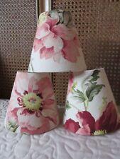 Handmade Candle Clip Lampshade Laura Ashley Peony Garden Fabric