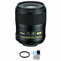 Nikon Micro-Nikkor 60mm F/2.8 G AF-S ED Lens + UV Filter & Cleaning Kit