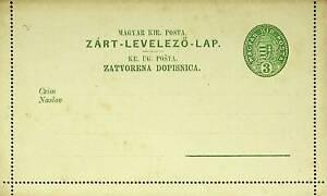 HUNGARY 3kr FINE UNUSED LETTER POSTCARD