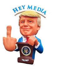 President Trump Funny Christmas F##K U Media Bobble Middle Finger Bobblehead