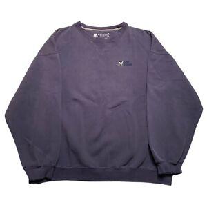 Big Dogs Crewneck Sweatshirt Embroidered Logo Distressed Blue Size XL
