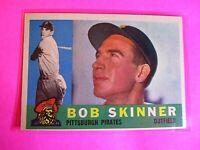 1960 TOPPS baseball Set Break #113 Bob Skinner Pirates, NmMt High Grade