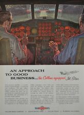 Collins Radio Company Equipped Airplane Lockheed 550 mph JetStar 1960 Vintage Ad