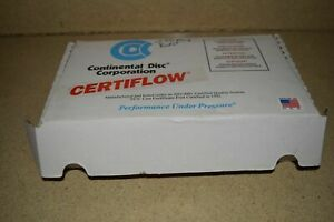 CONTINENTAL DISC CORP Certiflow Teñido 1.3cm Especial Sra Rupture - Incluye 10