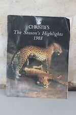 Ancien catálogo de arte - Christie's - The de temporada Highlights - 1988