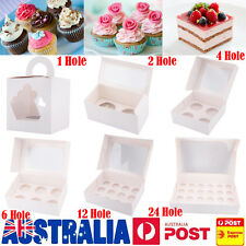 Cupcake Box 1/2/4/6/12/24 Holes Window Face Party Wedding Baby Christamas Gift