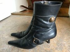 vtg Italy C.C. witch steampunk gothic heels costume womens shoes boots sz 37.5