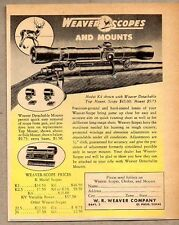 1951 Print Ad Weaver Model K4 Scopes & Mounts El Paso,Texas