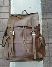FOSSIL BROWN DEFENDER COWHIDE LEATHER BACKPACK Bag $328.00