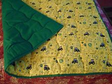 Handmade Baby Quilt-John Deere Yellow Bandana Toddler Bed/Crib Quilt  Comforter