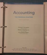 Accounting The Financial Chapters: Chapters 1-23 by Horngren, Oliver, & Harrison