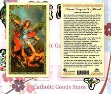 Novena Prayer to St. Saint Michael the Archangel - Laminated Holy Card