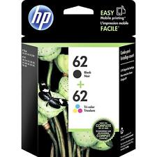 2-PACK HP GENUINE 62 Black & Tri-Color Ink (NO RETAIL BOX) OFFICEJET 5740 5745